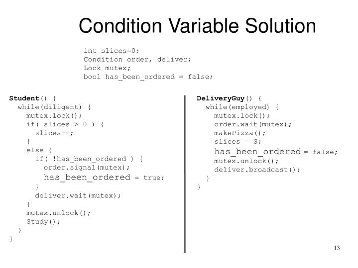 Condition Variable Solution