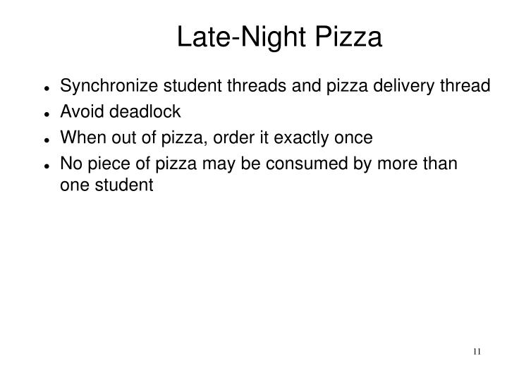 Late-Night Pizza