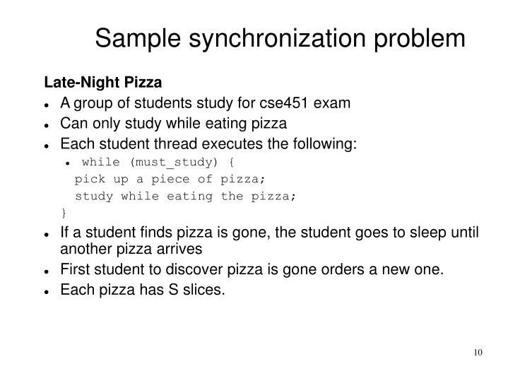 Sample synchronization problem