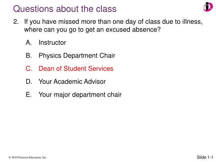 Questions about the class