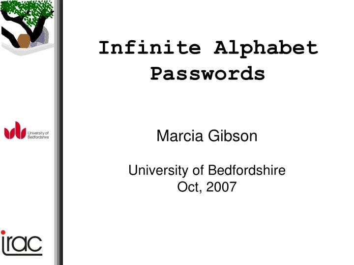 marcia gibson university of bedfordshire oct 2007 n.
