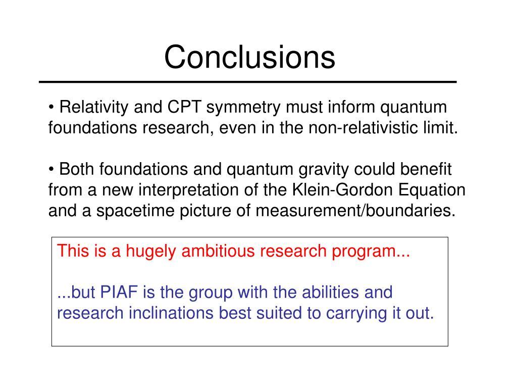 PPT - The Klein-Gordon Equation Revisited PowerPoint Presentation