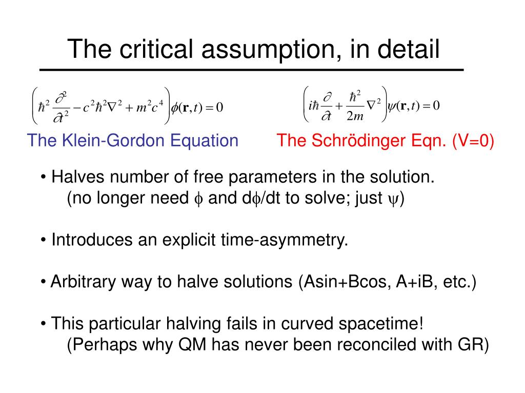 PPT - The Klein-Gordon Equation Revisited PowerPoint