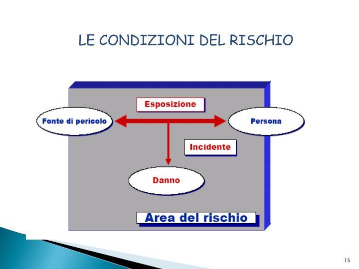 LE CONDIZIONI DEL RISCHIO