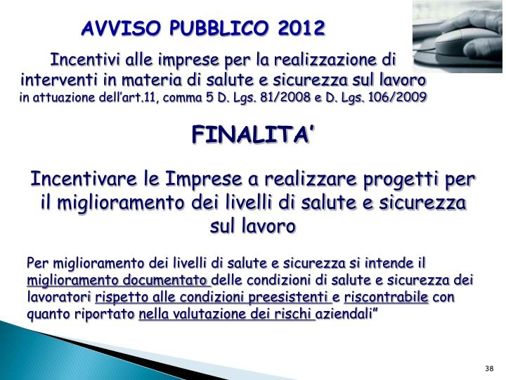 AVVISO PUBBLICO 2012