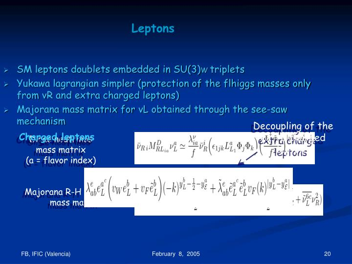 SM leptons doublets embedded in SU(3)