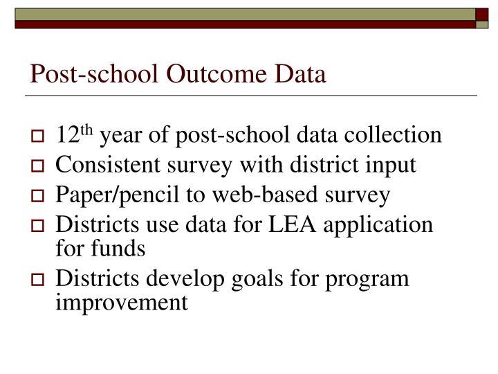 Post-school Outcome Data