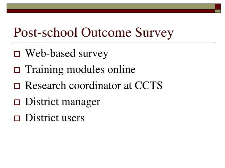 Post-school Outcome Survey