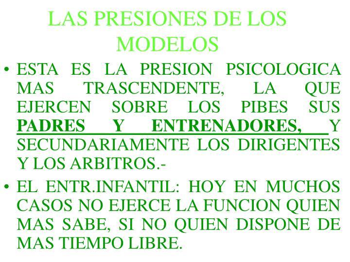 LAS PRESIONES DE LOS MODELOS