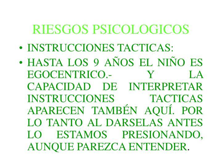 RIESGOS PSICOLOGICOS