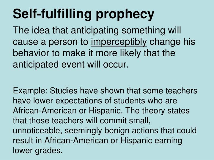 Self Fulfilling Prophesy A Lesson To Essay Writing Service