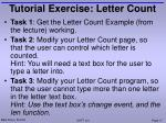 tutorial exercise letter count