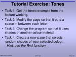 tutorial exercise tones