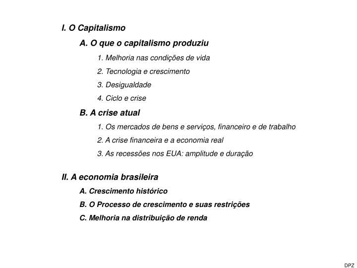 I. O Capitalismo