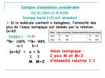 isotopes d abondance consid rable