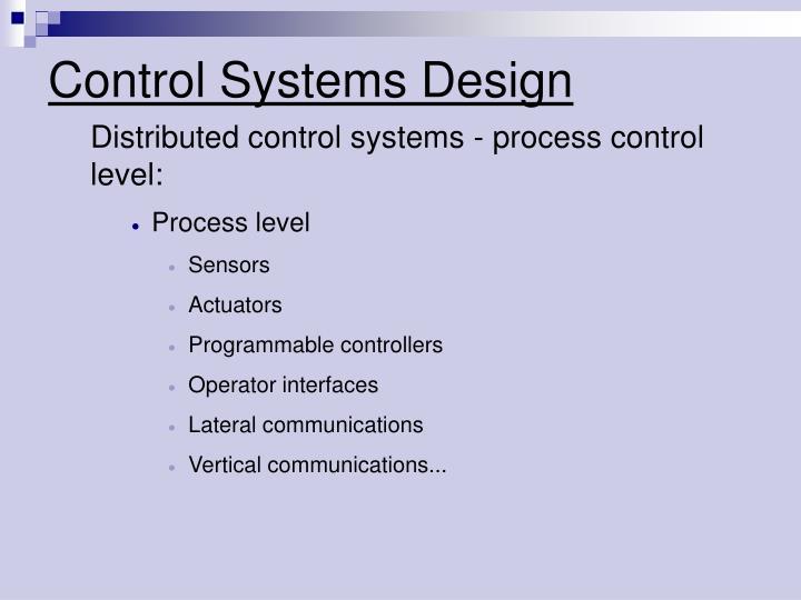 Control systems design1