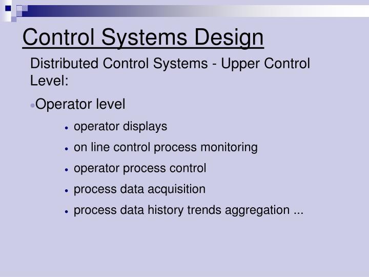 Control systems design2