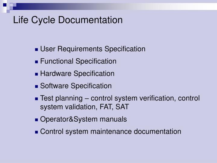 Life Cycle Documentation