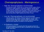 chemoprophylaxis meningococus