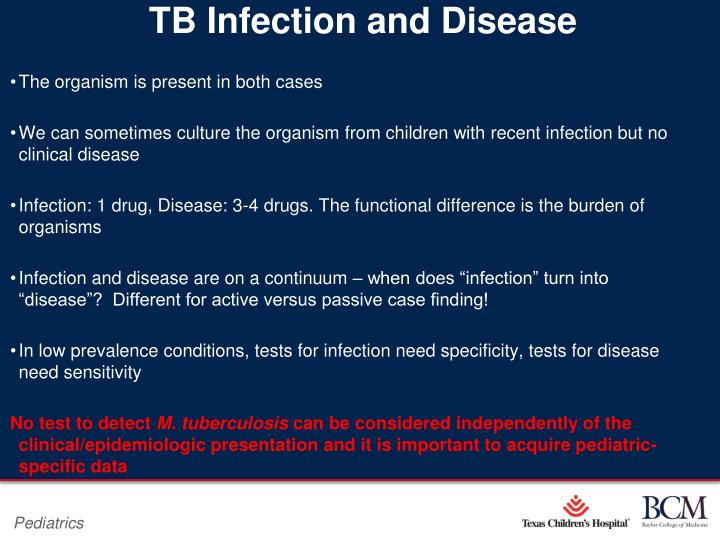 Tb infection and disease