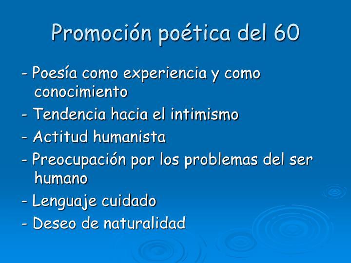 Promoción poética del 60