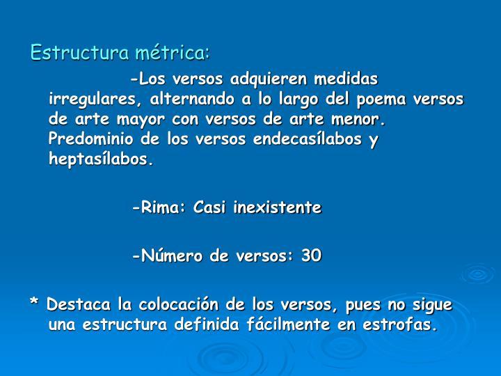 Estructura métrica: