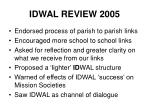 idwal review 2005
