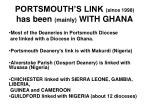 portsmouth s link since 1998 has been mainly with ghana