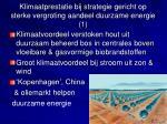 klimaatprestatie bij strategie gericht op sterke vergroting aandeel duurzame energie 1