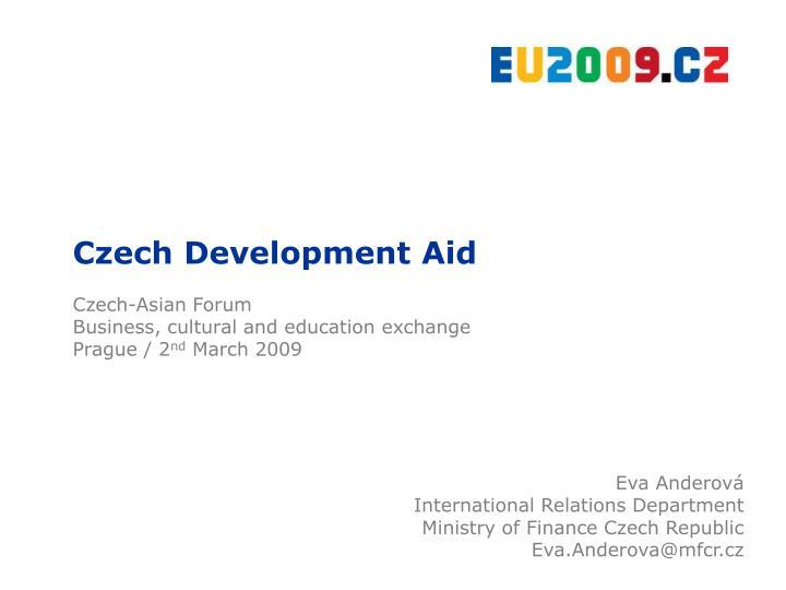 Czech Development Aid