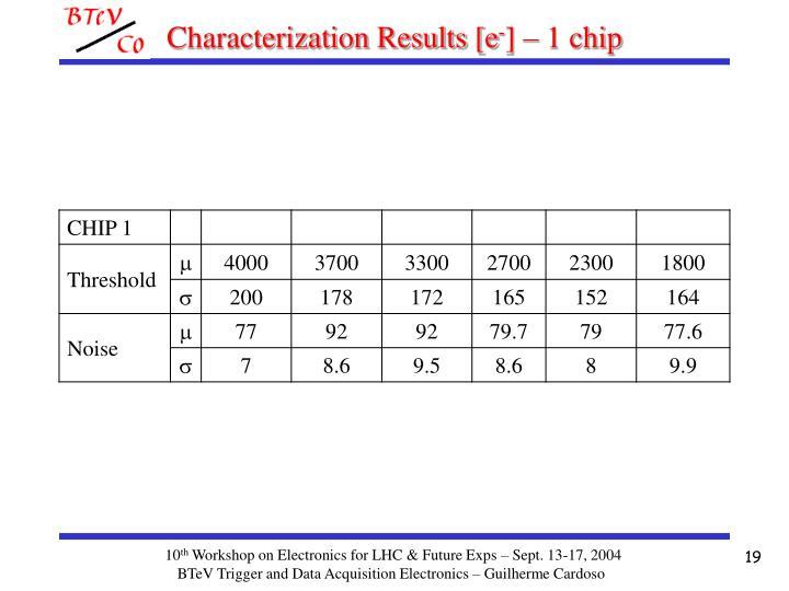 Characterization Results [e