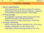 economics 3 marketing