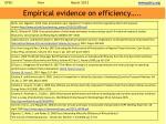 empirical evidence on efficiency