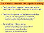 the economic and social role of public spending
