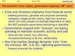 the economic crisis origins government responses imf exits