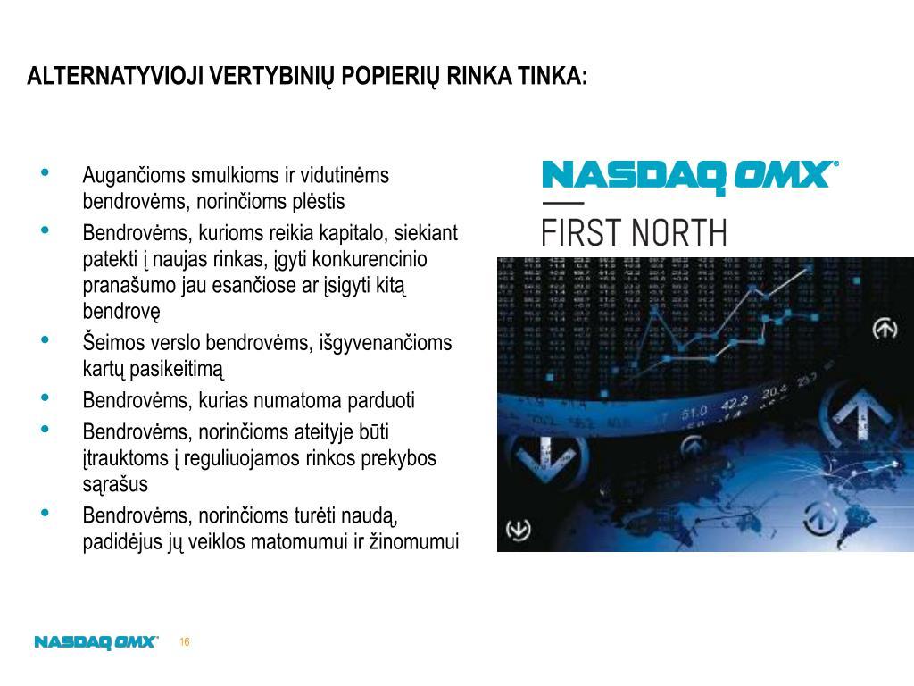 nasdaq alternatyvi prekybos sistema)
