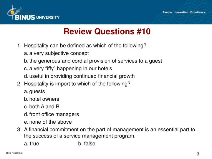 Review questions 10