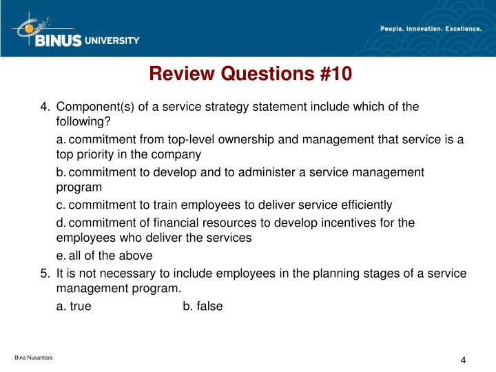 Review Questions #10