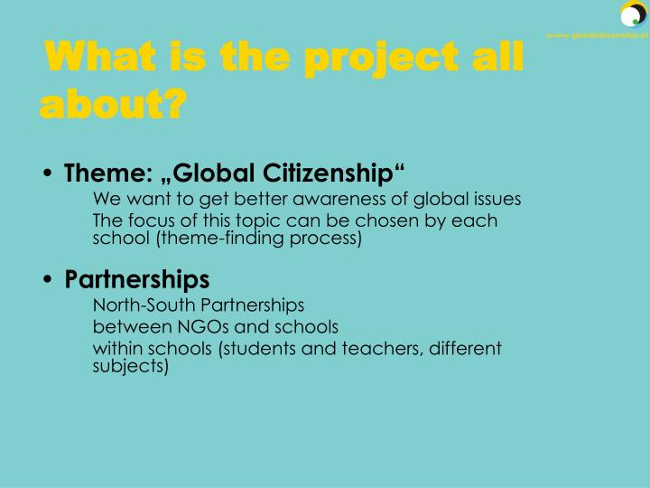 What is the project all about