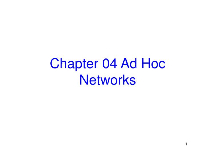 chapter 04 ad hoc networks n.