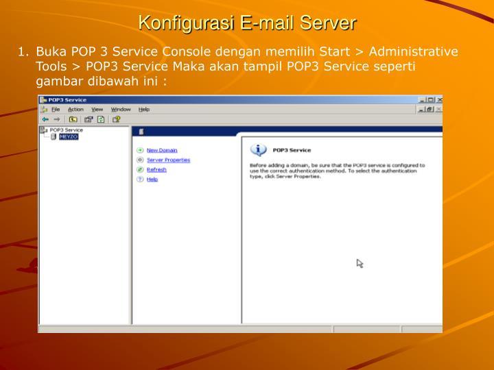 Konfigurasi E-mail Server