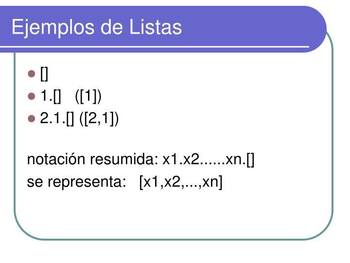 Ejemplos de Listas
