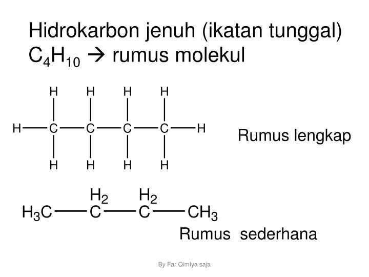 Hidrokarbon jenuh (ikatan tunggal)