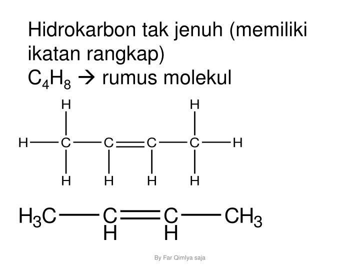 Hidrokarbon tak jenuh (memiliki ikatan rangkap)
