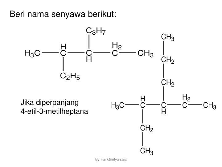 Beri nama senyawa berikut: