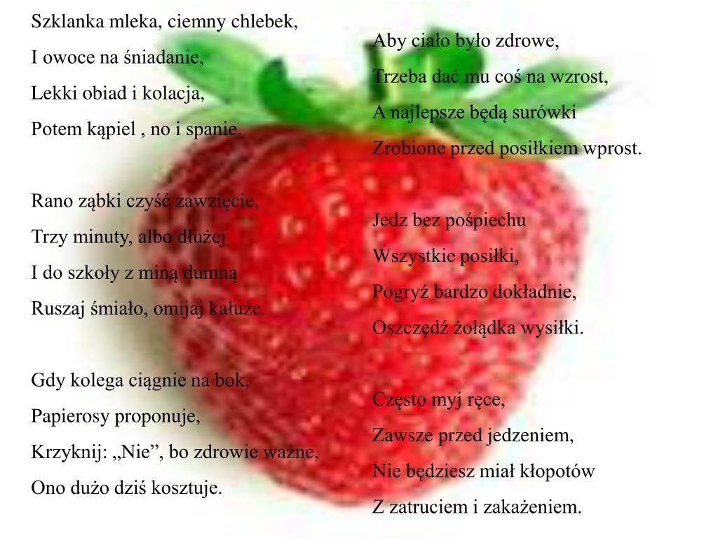 Ppt Zasady Zdrowego żywienia Powerpoint Presentation Free