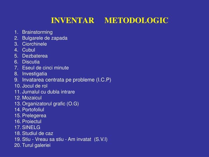 Inventar metodologic