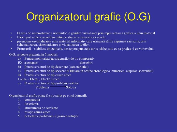 Organizatorul grafic (O.G)