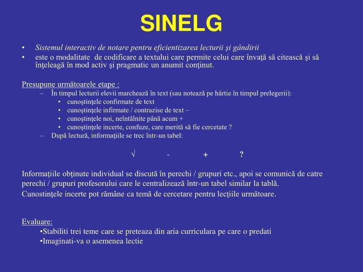 SINELG