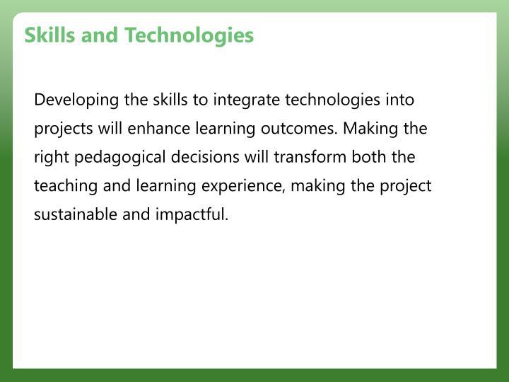 Skills and Technologies